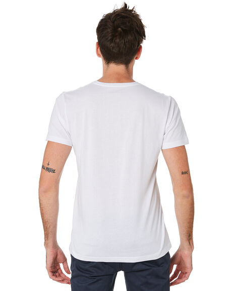 WHITE MENS CLOTHING ACADEMY BRAND TEES - BA333WHT