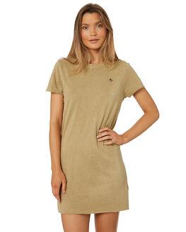 TAN WOMENS CLOTHING THRILLS DRESSES - WTS8-903CTAN