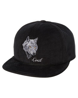 BLACK WOLF MENS ACCESSORIES COAL HEADWEAR - 200916BLKW