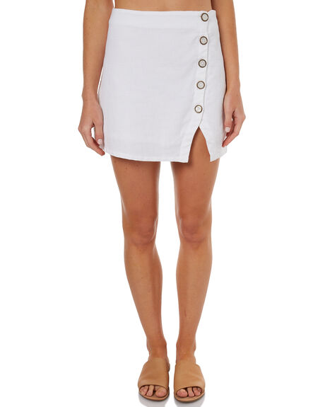 WHITE WOMENS CLOTHING ELEMENT SKIRTS - 274852WHT