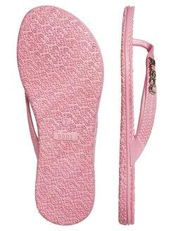 PINK WOMENS FOOTWEAR RUSTY THONGS - FOL0125-HRR