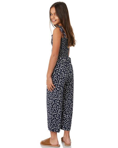 NAVY FLORAL KIDS GIRLS EVES SISTER DRESSES + PLAYSUITS - 9560012NVY