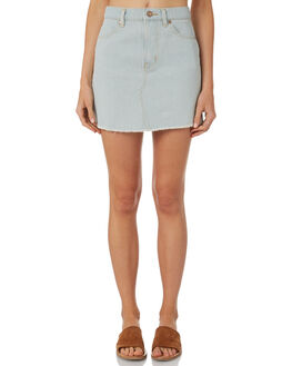 LIGHT BLUE WOMENS CLOTHING AFENDS SKIRTS - W181901-LBLU
