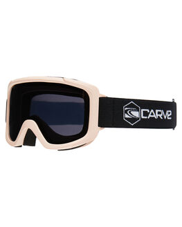 POWDER PINK GREY BOARDSPORTS SNOW CARVE GOGGLES - 6135PNKG