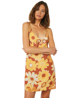 GOLDEN WOMENS CLOTHING AFENDS DRESSES - W191802GOL