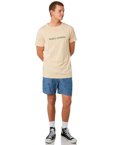 STONE BLUE MENS CLOTHING BANKS SHORTS - WS0125STB