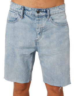 LIGHT WASH BLUE MENS CLOTHING THRILLS SHORTS - TDP-314LELWBLU
