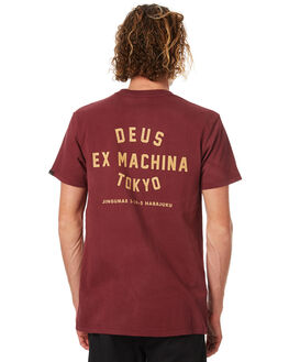 MAROON MENS CLOTHING DEUS EX MACHINA TEES - DMF71462BMRN