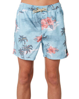 BLUE RED KIDS BOYS RIP CURL BOARDSHORTS - KBOMX10875