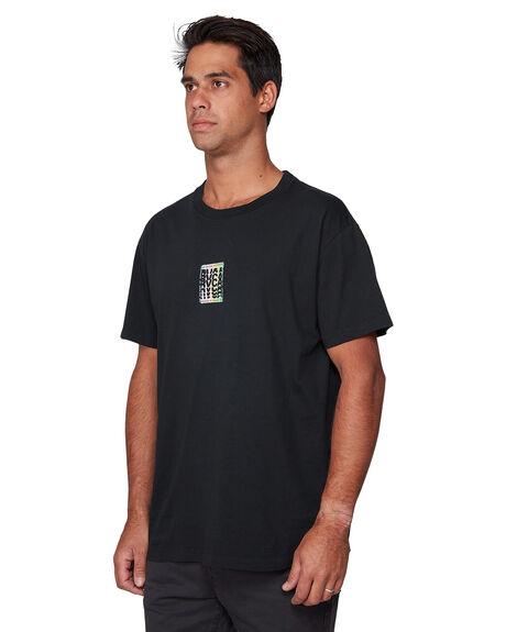 BLACK MENS CLOTHING RVCA TEES - RV-R107044-BLK