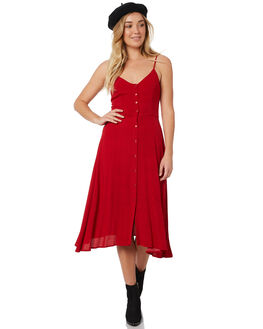 RED MINI SPOT WOMENS CLOTHING ROLLAS DRESSES - 127334013