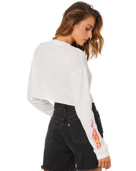 WHITE WOMENS CLOTHING JAGGER AND STONE TEES - JS124WHT