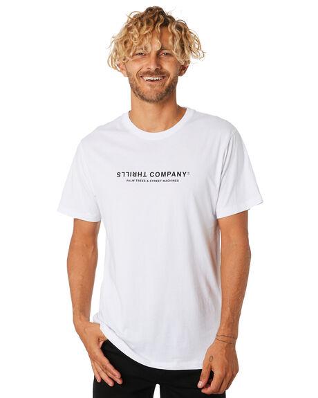 WHITE MENS CLOTHING THRILLS TEES - TA9-119AWHT