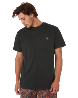 HERITAGE BLACK MENS CLOTHING THRILLS TEES - TS9-113HBHTBLK