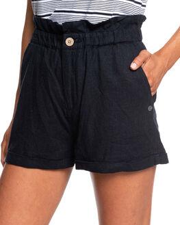 TRUE BLACK WOMENS CLOTHING ROXY SHORTS - ERJNS03236-KVJ0