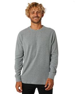 GREY MARLE MENS CLOTHING ACADEMY BRAND JUMPERS - BA700GRYML