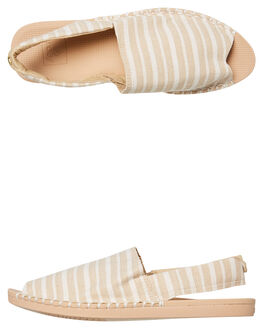NATURAL STRIPE WOMENS FOOTWEAR REEF SLIDES - A3YLINSI