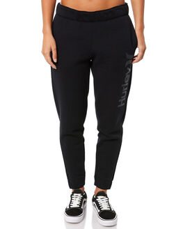 BLACK WOMENS CLOTHING HURLEY PANTS - AJ3566010