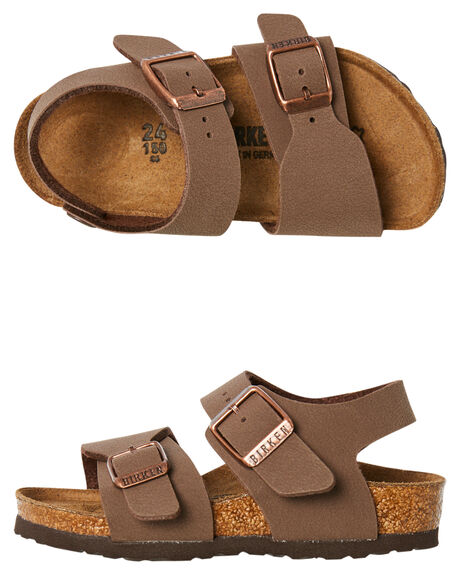 MOCCA KIDS BOYS BIRKENSTOCK FOOTWEAR - 087783MOCCA