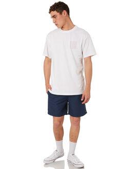 NAVY RED MENS CLOTHING HUFFER BOARDSHORTS - MST84S3601NVRE