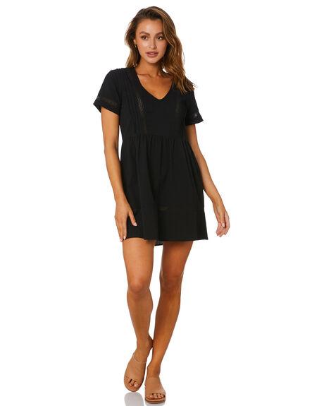 BLACK WOMENS CLOTHING RUSTY DRESSES - DRL1080BLK