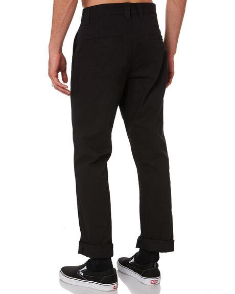 BLACK MENS CLOTHING POLER PANTS - 211APM4501-BLK