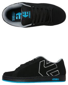 BLACK GREY MENS FOOTWEAR ETNIES SKATE SHOES - 4107000030BLKG