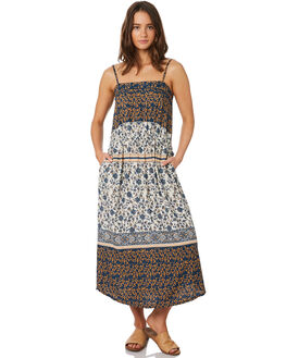 BLUE PATCHWORK WOMENS CLOTHING O'NEILL DRESSES - 5421606BPW