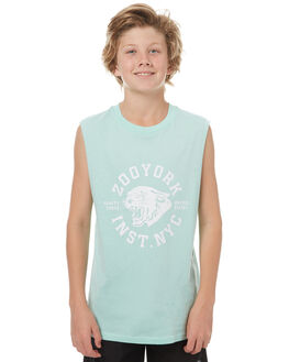 MINT KIDS BOYS ZOO YORK SINGLETS - ZY-YTC7135MINT
