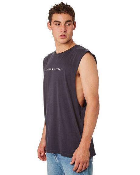DEEP NAVY MENS CLOTHING AFENDS SINGLETS - M183080DPNVY