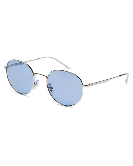 SILVER BLUE MENS ACCESSORIES RAY-BAN SUNGLASSES - 0RB3681380
