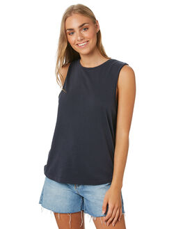 NAVY WOMENS CLOTHING SILENT THEORY SINGLETS - 6085029NAVY