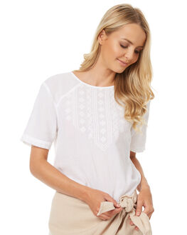 WHITE WOMENS CLOTHING ELEMENT FASHION TOPS - 273215AWHT