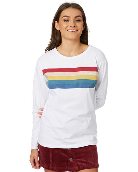 WHITE WOMENS CLOTHING AFENDS TEES - W182105WHT