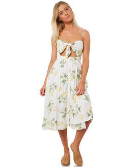 LEMON FLORAL WOMENS CLOTHING TEE INK DRESSES - VAW6006LMNFL