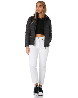 BLACK WOMENS CLOTHING RUSTY JACKETS - JKL0377BLK