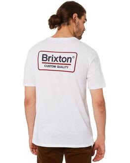 WHITE MENS CLOTHING BRIXTON TEES - 06528WHNAV