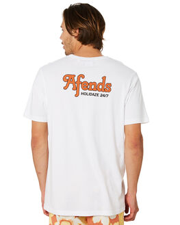 WHITE MENS CLOTHING AFENDS TEES - M191003WHT