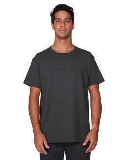 PIRATE BLACK MENS CLOTHING RVCA TEES - RV-R107052-PTK