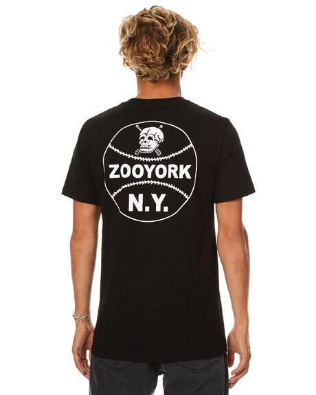 JET BLACK MENS CLOTHING ZOO YORK TEES - ZY-MTB7002JBLK