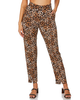 LEOPARD WOMENS CLOTHING TIGERLILY PANTS - T305382LEO