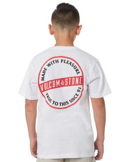 WHITE KIDS BOYS VOLCOM TOPS - C5031874WHT