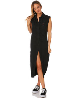 WASHED BLACK WOMENS CLOTHING INSIGHT DRESSES - 1000065478BLK