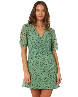 LIME FLORAL WOMENS CLOTHING THE FIFTH LABEL DRESSES - 40190954-2LMFLR