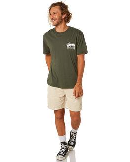 FLIGHT GREEN MENS CLOTHING STUSSY TEES - ST092001FLTGN