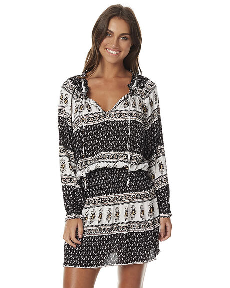 BLACK PAISLEY STOCK WOMENS CLOTHING SWELL DRESSES - S8161456BLK