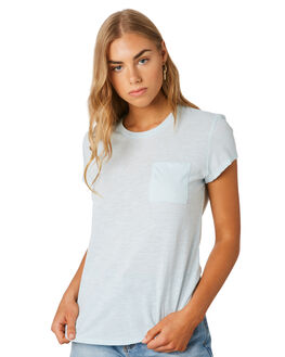 ATOLL BLUE WOMENS CLOTHING PATAGONIA TEES - 52980ATBL