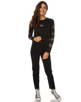 BLACK WOMENS CLOTHING STUSSY TEES - ST176010BLK