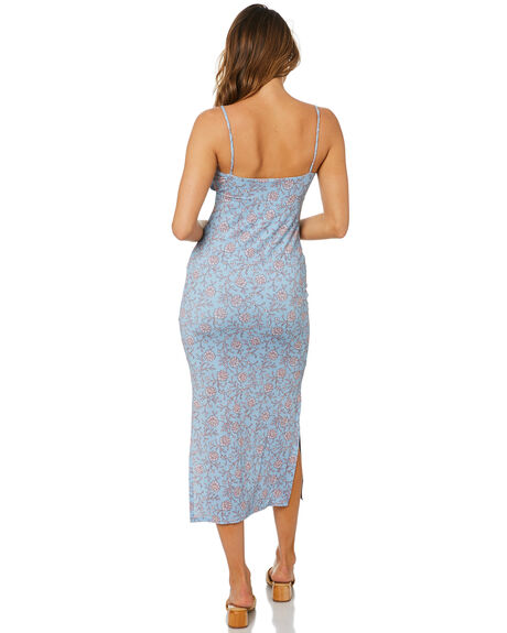 DUSTY BLUE WOMENS CLOTHING TIGERLILY DRESSES - T615424U01