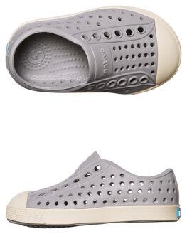 PIGEON GREY WHITE KIDS TODDLER BOYS NATIVE FOOTWEAR - 13100100-1500